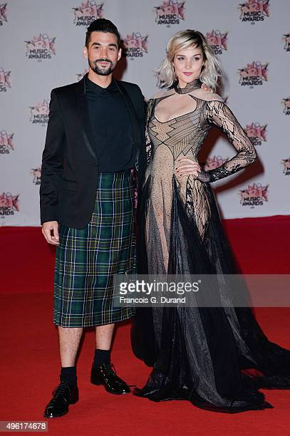 Florent Mothe and Camille Lou attend the 17th NRJ Music Awards at Palais des Festivals on November 7 2015 in Cannes France