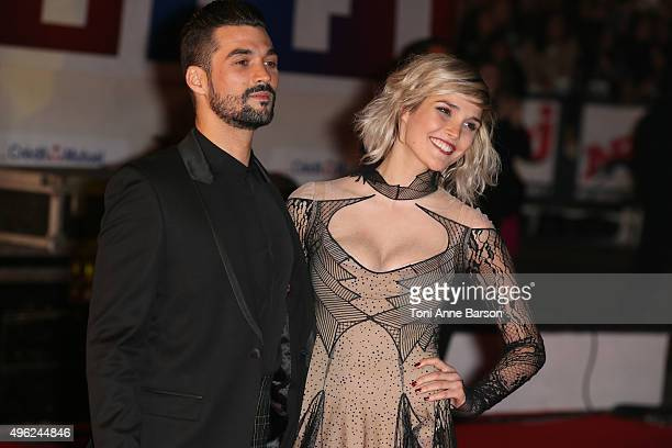 Florent Mothe and Camille Lou attend the17th NRJ Music Awards at Palais des Festivals on November 7 2015 in Cannes France