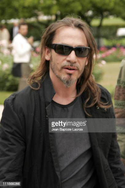 Florent Pagny during Paris Haute Couture Fashion Week - Fall/Winter 2005 - Christian Dior - Arrivals at Polo de Paris in Paris, France.