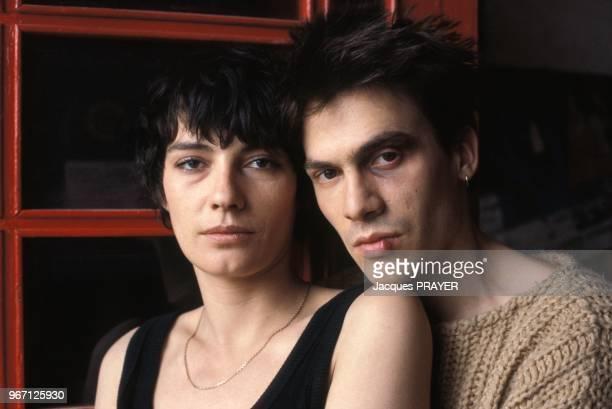 Florent Pagny et Patricia Millardet lors du tournage du film 'Blessure' realise par Michel Gerard le 28 mars 1985 en France.