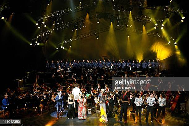 Florent Pagny Julie Zenatti Randy Crawford David Garrett and Cunie Williams with il Novecento orchestra conducted by Robert Groslot with the Fine...