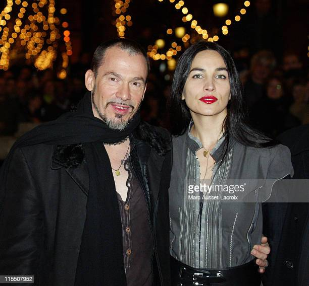 Florent Pagny with his wife Azucena during Florent Pagny at the Lighting of Champs Elysees in Paris - November 28, 2006 at Champs Elysees in Paris,...
