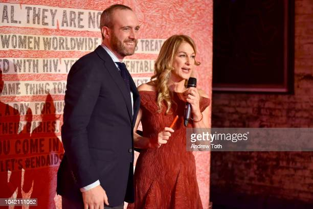 FlorentAymeric Dubiez and CEO Deborah Dugan attend as Montblanc And Launch The New RED Collection To Fight AIDS At New York's World Of McIntosh...
