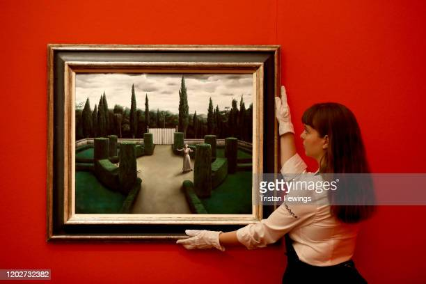 Florentijnse tuin ' by Dutch artist Pyke Koch, goes on view at Sotheby's. The sale of the painting will take place on Tuesday 4th February as part of...