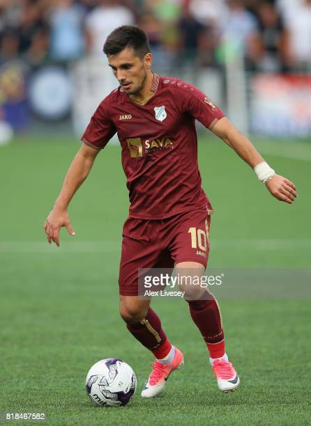 Florentin Matei of HNK RIjeka during the UEFA Champions League second qualifying round second leg match between The New Saints FC and HNK RIjeka at...