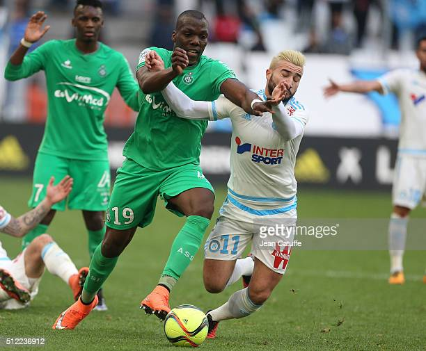 saint etienne v olympique marseille ligue 1 stock photos and pictures