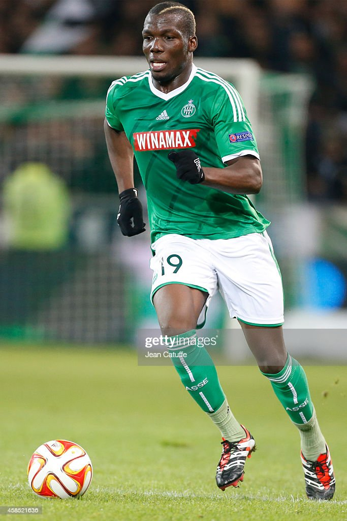 Florentin Pogba of Saint-Etienne in action during the UEFA Europa League Group F match between AS Saint-Etienne and FC Internazionale Milano on November 6, 2014 in Saint-Etienne, France.