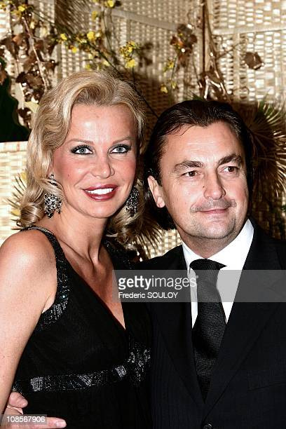 Florentine and Henri Leconte in Paris France on December 08th 2004