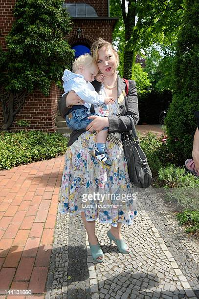 "Florentine Joop and son Friedrich attend ""Wolfgang Joop Shows Wunderkind Defile FALL / Winter"" at the Villa Wunderkind on May 10, 2012 in Potsdam,..."