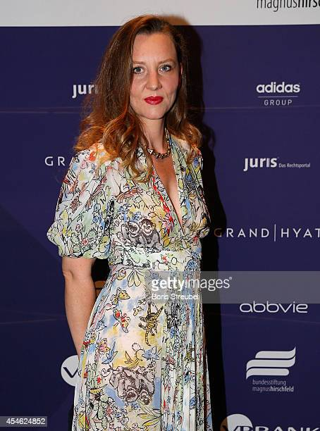 Florentine Joop poses during the charity dinner of the Magnus Hirschfeld Federal Foundation at Grand Hyatt Hotel on September 4, 2014 in Berlin,...