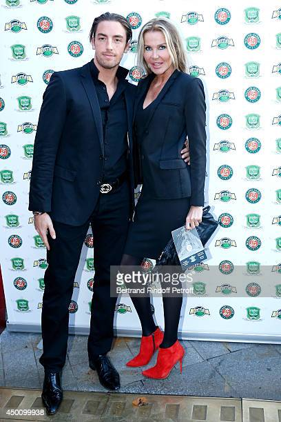 Florentine Leconte and Maxime Leconte attend the Legends of Tennis Dinner Held at Restaurant Fouquet's whyle Roland Garros French Tennis Open 2014 on...