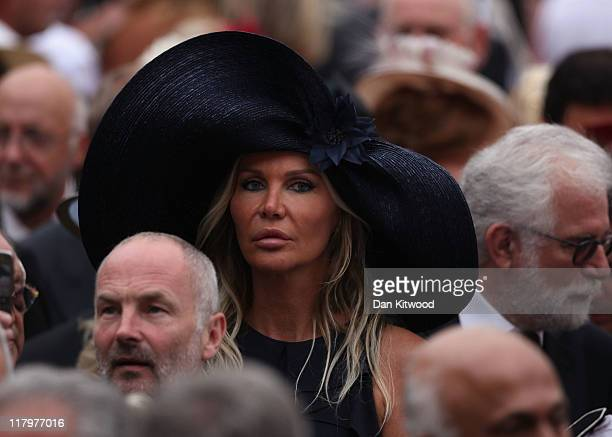 Florentine Leconte attends the religious ceremony of the Royal Wedding of Prince Albert II of Monaco to Princess Charlene of Monaco in the main...