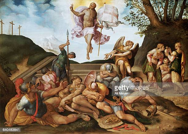 Florentine School Painting of The Resurrection of Christ