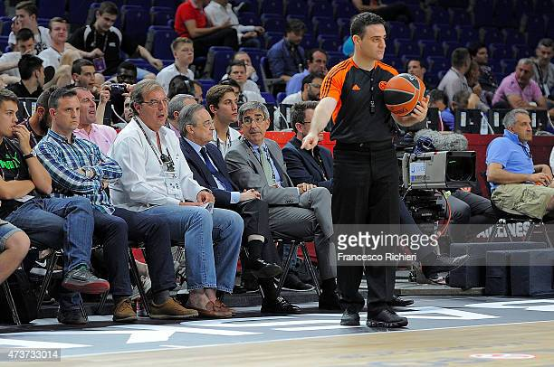 Florentino Perez and Jordi Bertomeu during the Adidas Next Generation Tournament Final Game between Real Madrid vs Crvena Zvezda at Barclaycard...