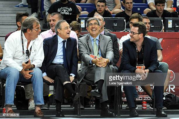 Florentino Perez President of Real Madrid and Jordi Bertomeu CEO of Euroleague Basketball attend the Adidas Next Generation Tournament Final Game...
