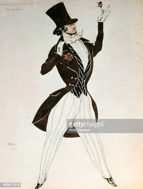 Florestan, design for a costume for the ballet Carnival composed by Robert Schumann, 1919. From the Hermitage Museum, St Petersburg, Russia.