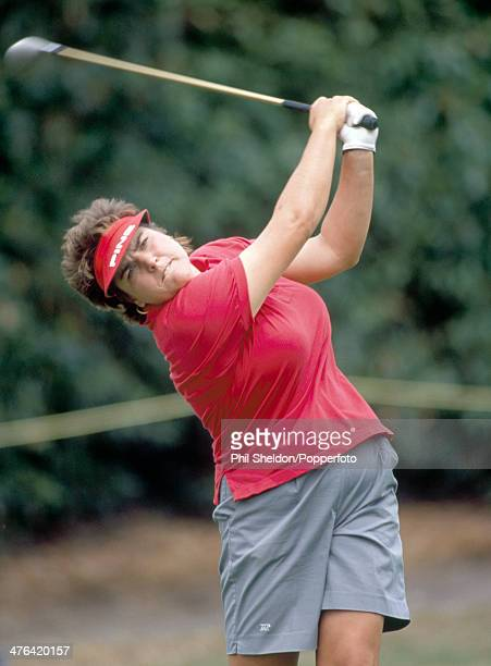 Flori Prono of the United States tracking her tee shot during the Women's British Open Golf Championship held at the Ferndown Golf Club Dorset circa...
