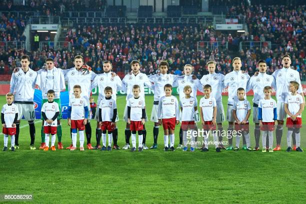 Florian Baak and goalkeeper Niclas Thiede and Luca Kilian and Manuel Wintzheimer and Atakan Akkaynak and Kai Havertz and Sam Schreck and JanNiklas...