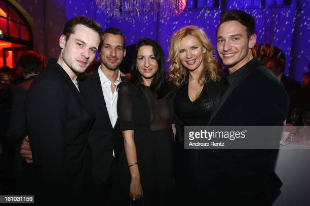Florian Bartholomaei Florian David Fitz Minu BaratiFischer Veronica Ferres and Vladimir Burlakov attend the Festival Night by Bunte and BMW at...