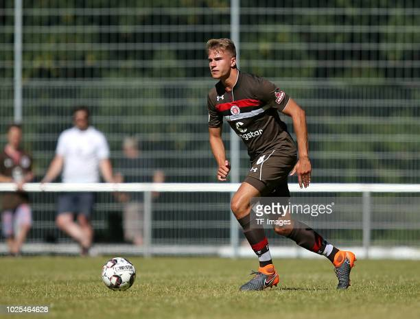 Florian Carstens of St Pauli controls the ball during the preseason friendly match between SV Eutin 08 and FC St Pauli on July 1 2018 in Eutin Germany