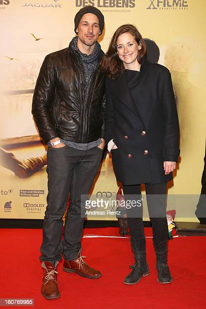 Florian David Fitz and Anja Knauer attend 'Quelle des Lebens' Germany Premiere at Delphi Filmpalast on February 5 2013 in Berlin Germany