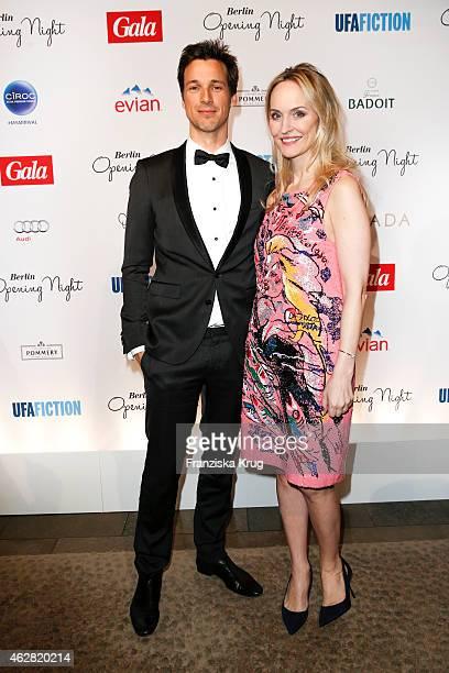 Florian David Fitz and Anne Meyer-Minnemann attend the 'Berlin Opening Night Of Gala & Ufa Fiction on February 05, 2015 in Berlin, Germany.