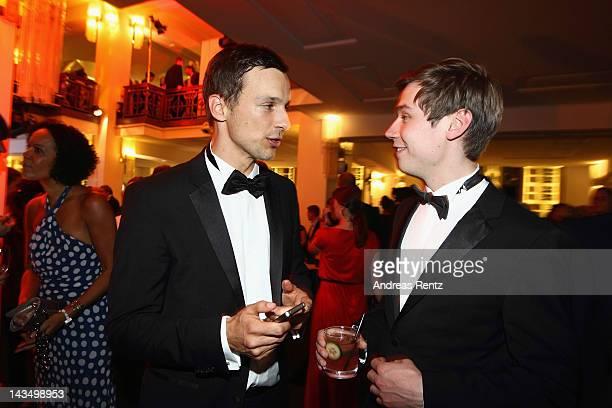 Florian David Fitz and David Kross attend the Lola German Film Award 2012 Party at FriedrichstadtPalast on April 27 2012 in Berlin Germany