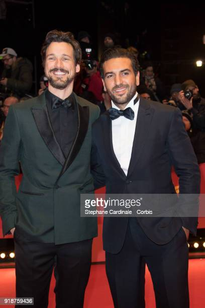 Florian David Fitz and Elyas M'Barek attend the Opening Ceremony 'Isle of Dogs' premiere during the 68th Berlinale International Film Festival Berlin...