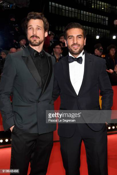 Florian David Fitz and Elyas M'Barek attends the Opening Ceremony 'Isle of Dogs' premiere during the 68th Berlinale International Film Festival...