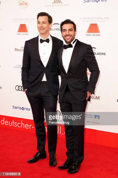 Florian David Fitz and Elyas M'Barek during the 47th German Film Ball at Hotel Bayerischer Hof on January 18 2020 in Munich Germany