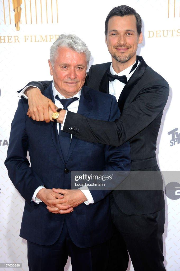 Florian David Fitz and Henry Huebchen attend the Lola German Film Award 2013 at Friedrichstadtpalast on April 26, 2013 in Berlin, Germany.