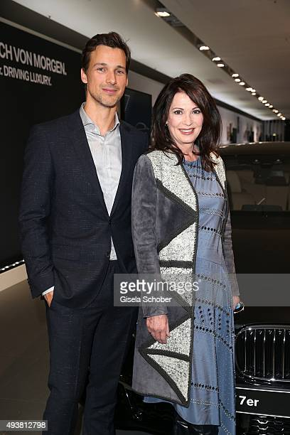 Florian David Fitz and Iris Berben during the presentation of the new BMW 7 Series on October 22 2015 in Munich Germany