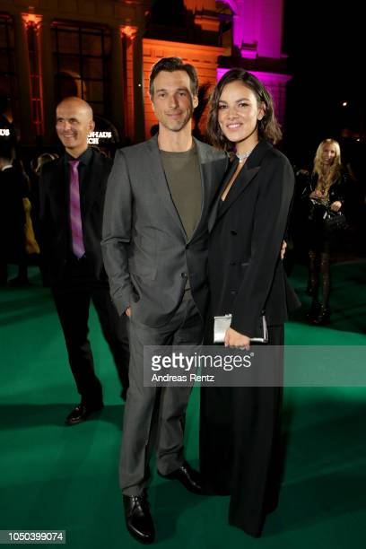 Florian David Fitz and Janina Uhse attend the 'Der Vorname' premiere and Award Night during the 14th Zurich Film Festival at on October 06 2018 in...