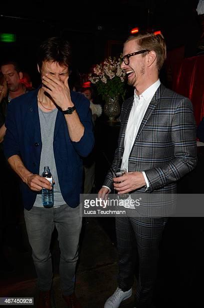 Florian David Fitz and Joko Winterscheidt attend the German premiere of the film 'Der Nanny' at CineStar on March 24 2015 in Berlin Germany
