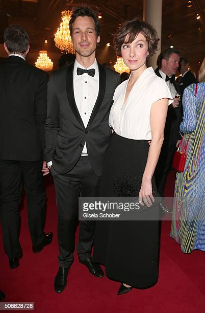 Florian David Fitz and Julia Koschitz during the Goldene Kamera 2016 reception on February 6 2016 in Hamburg Germany