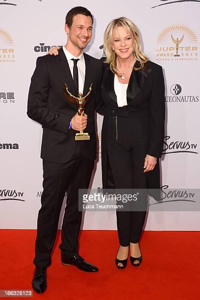 Florian David Fitz and Lisa Fitz attend 'Jupiter Award 2013' at Cafe Moskau on April 11 2013 in Berlin Germany