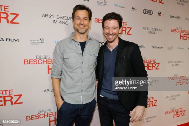 Florian David Fitz and Oliver Berben attend the 'Dieses bescheuerte Herz' premiere on December 12 2017 in Berlin Germany