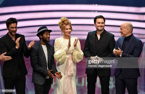 Florian David Fitz Eric Kabongo Palina Rojinski Simon Verhoeven and Heiner Lauterbach attend the Bayerischer Filmpreis 2017 at Prinzregententheater...