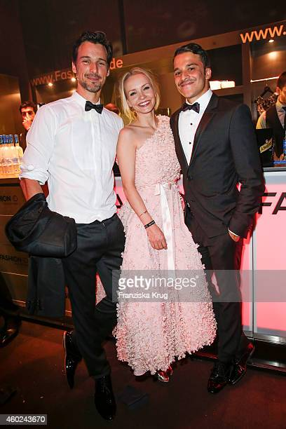 Florian David Fitz Janin Reinhardt and Kostja Ullmann attend the Bambi Awards 2014 after show party on November 14 2014 in Berlin Germany