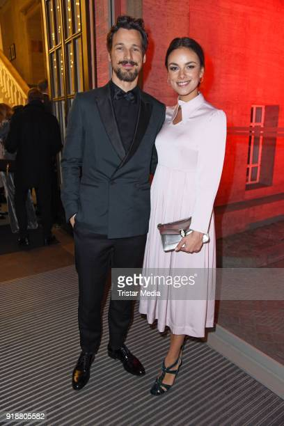 Florian David Fitz Janina Uhse during the Berlin Opening Night by GALA and UFA Fiction at Das Stue on February 15 2018 in Berlin Germany