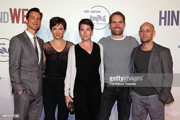 Florian David Fitz Julia Koschitz Victoria Mayer director Christian Zuebert and Juergen Vogel attend the premiere of the film 'Hin und weg' at...