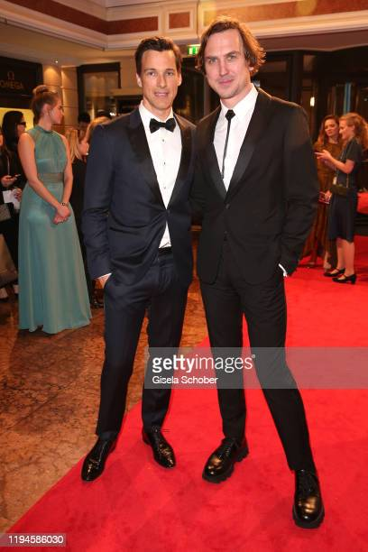 Florian David Fitz Lars Eidinger during the 47th German Film Ball party at Hotel Bayerischer Hof on January 18 2020 in Munich Germany