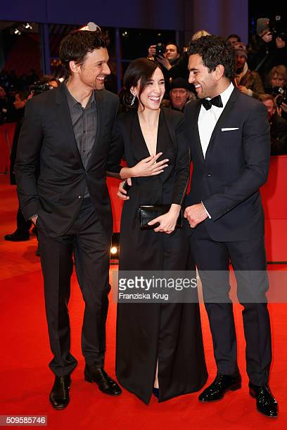 Florian David Fitz Sibel Kekilli and Elyas M'Barek attend the 'Hail Caesar' premiere during the 66th Berlinale International Film Festival Berlin at...