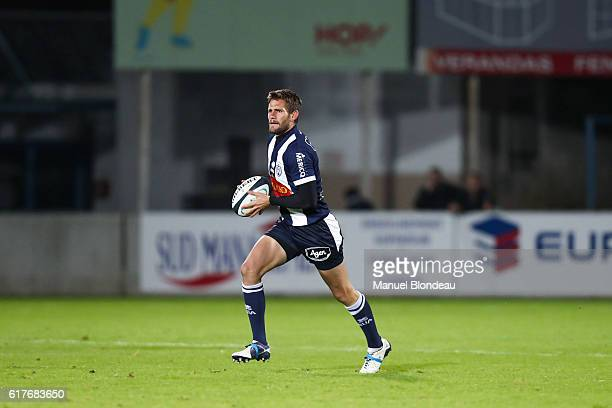 Florian Denos of Agen during the Pro D2 match between Agen and Soyaux Angouleme on October 21 2016 in Agen France