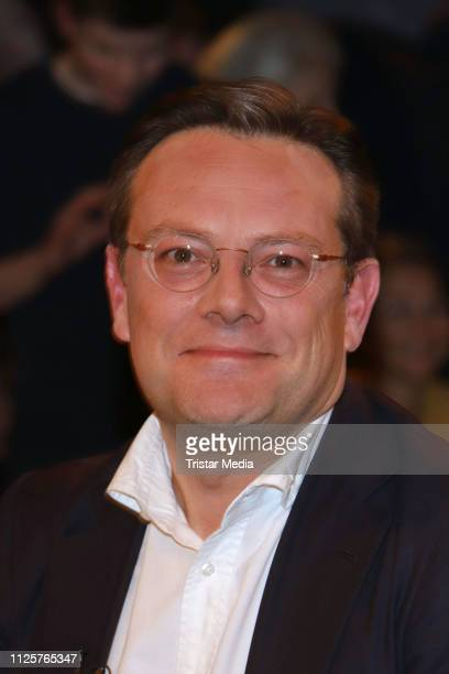 Florian Eder during the 'Markus Lanz' TV show on February 18 2019 in Hamburg Germany