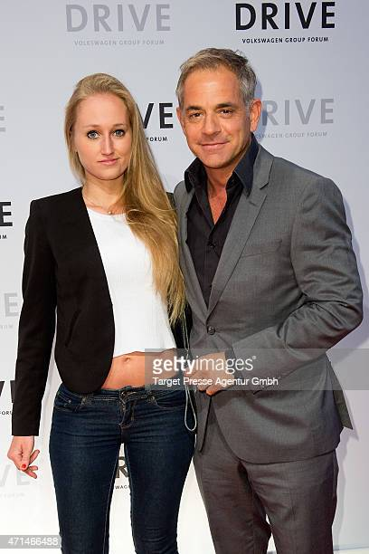 Florian fitz and his girlfriend Tatjana Thinius attend the DRIVE Volkswagen Group Forum Berlin Opening on April 28 2015 in Berlin Germany