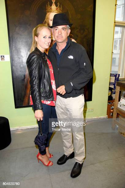 Florian Fitz and his girlfriend Tatjana Thinius attend the Vernissage 'Old Masters' on June 30 2017 in Berlin Germany