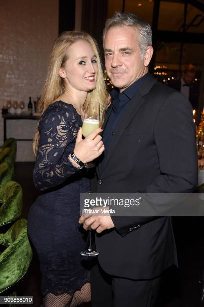 Florian Fitz and his girlfriend Tatjana Thinius during the GRACE Restaurant Celebrates 3 Year Anniversary at Hotel Zoo on January 24 2018 in Berlin...