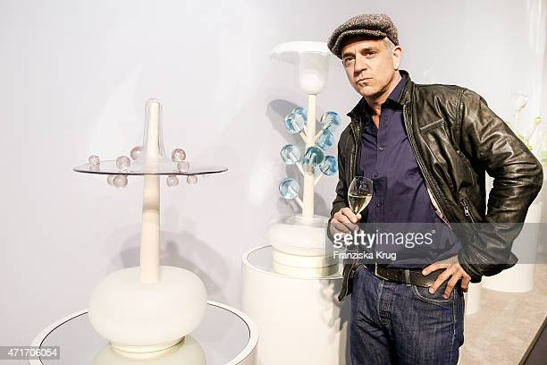 Florian Fitz attends the Hubert le Gall Vernissage At Ruinart PopUp Gallery on April 30 2015 in Berlin Germany