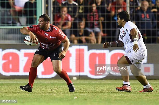 Florian Fresia of Toulon during the rugby Top 14 match between Toulon and Union Begles Bordeaux at Stade Mayol on June 5 2016 in Toulon France